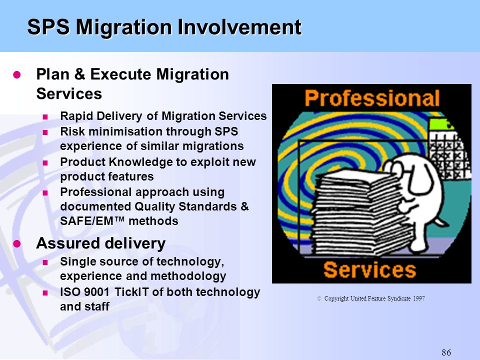SPS Migration Involvement