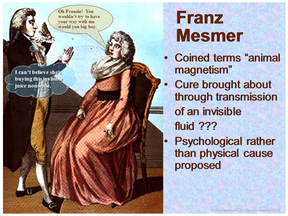 Franz Mesmer Coined terms animal magnetism