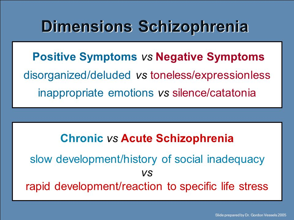 The symptoms schizophrenia and the social lives of people suffering from it