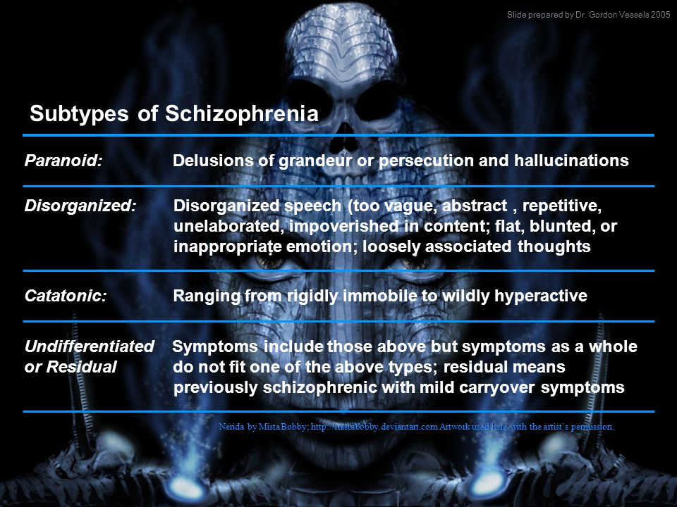 Subtypes of Schizophrenia