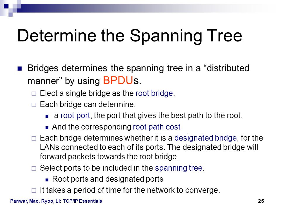 Determine the Spanning Tree