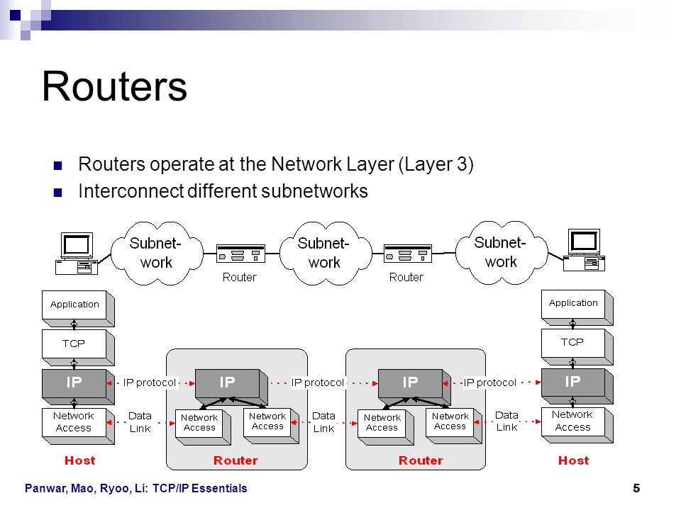 Routers Routers operate at the Network Layer (Layer 3)