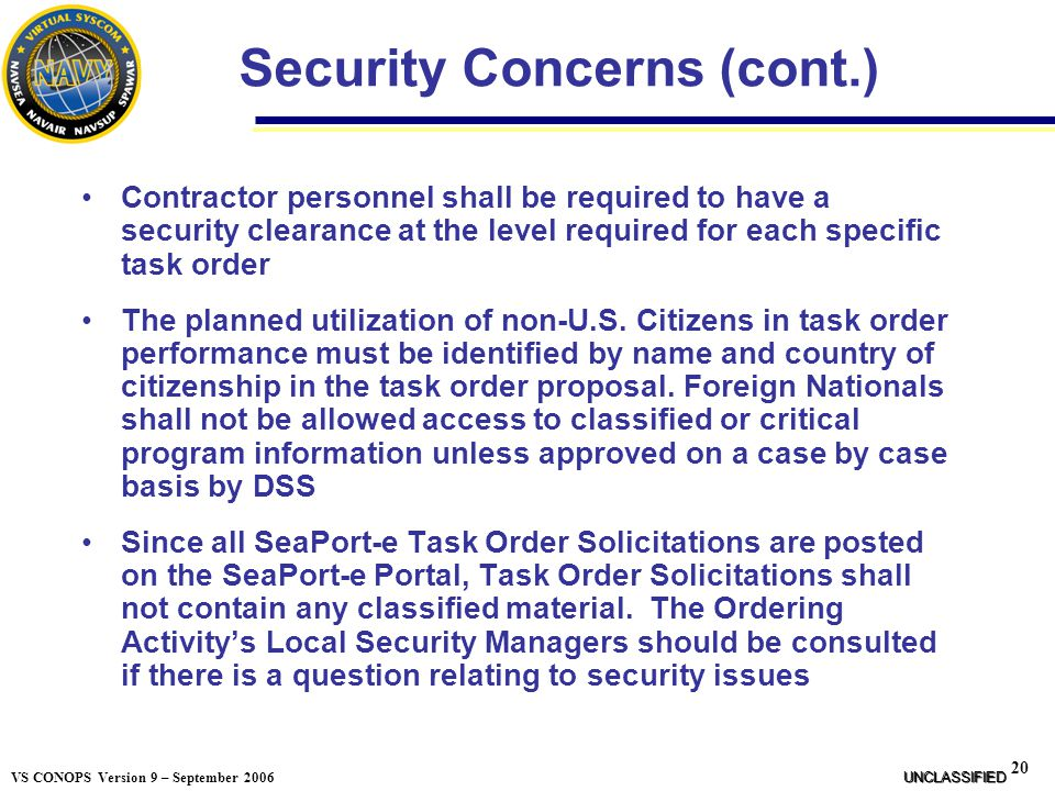 Security Concerns (cont.)