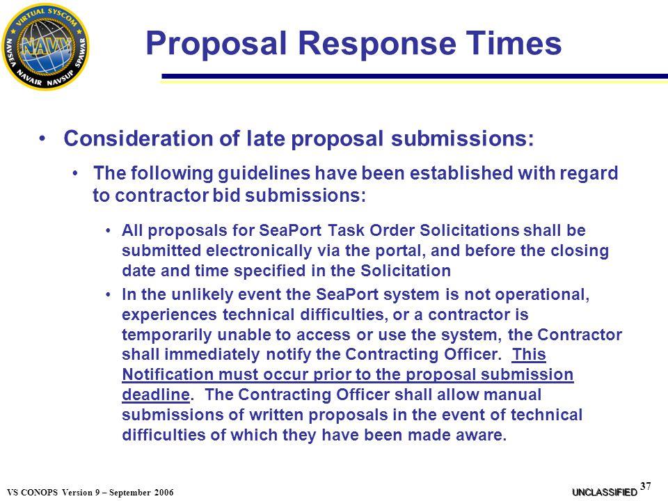 Proposal Response Times