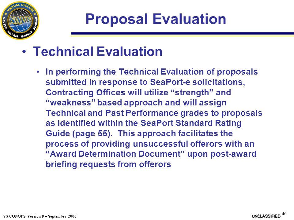 Proposal Evaluation Technical Evaluation
