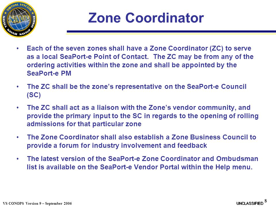Zone Coordinator