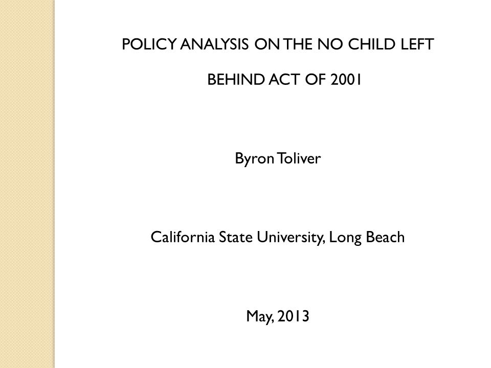 review of no child left behind The no child left behind act: an analysis of its impact on the academic success of students in literature review the no child left behind act.