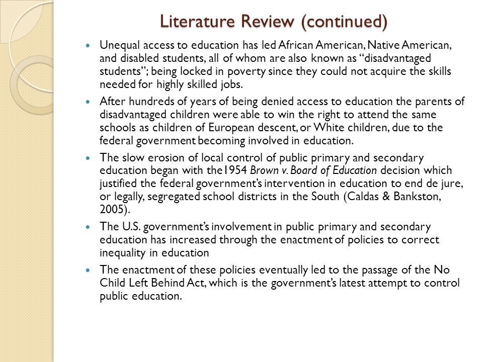 Essays on nclb act