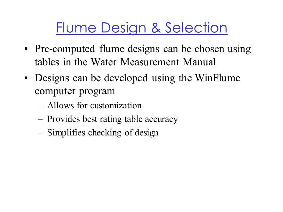 Flume Design & Selection