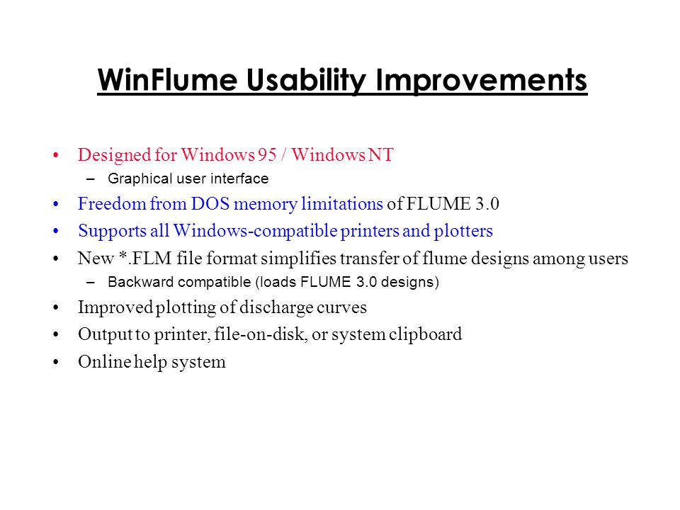 WinFlume Usability Improvements