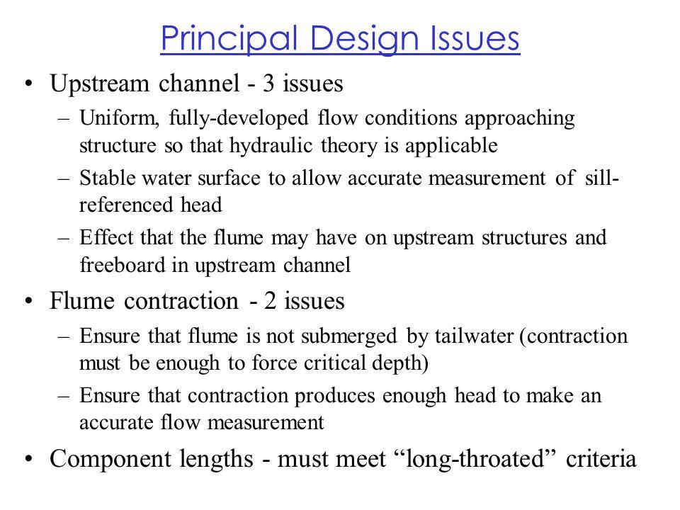 Principal Design Issues