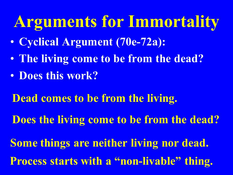 Arguments for Immortality
