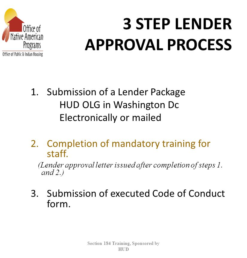 3 STEP LENDER APPROVAL PROCESS