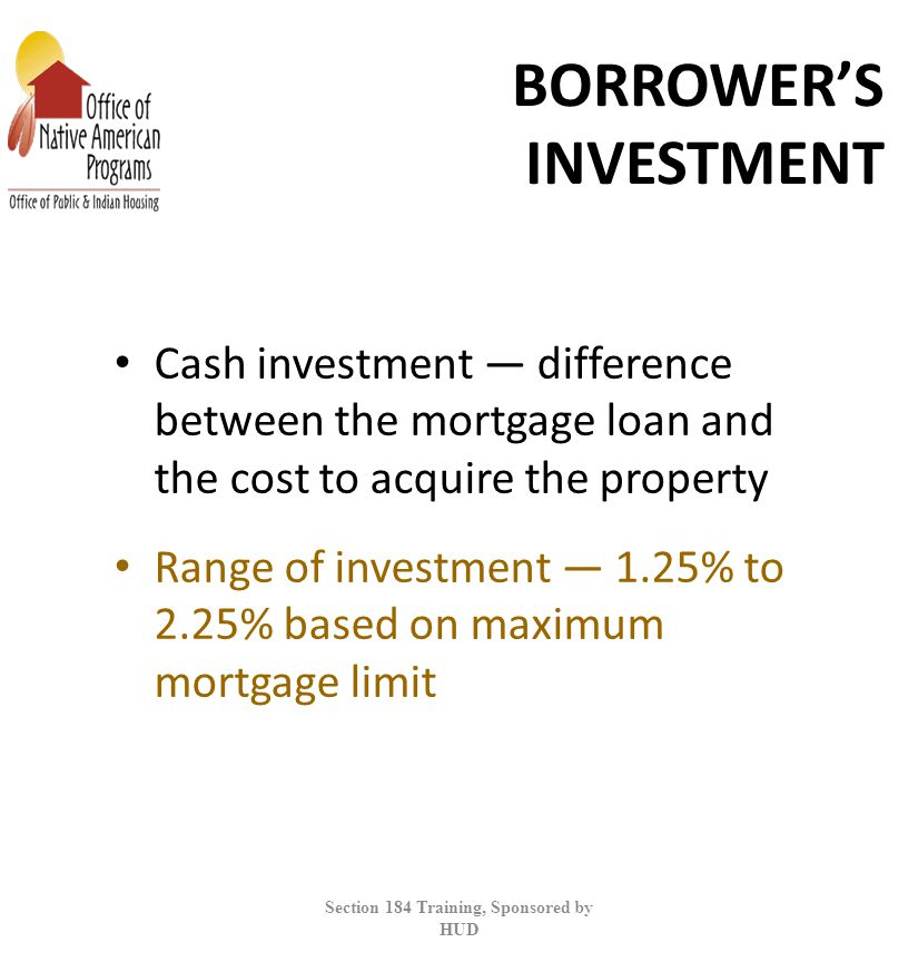 BORROWER'S INVESTMENT