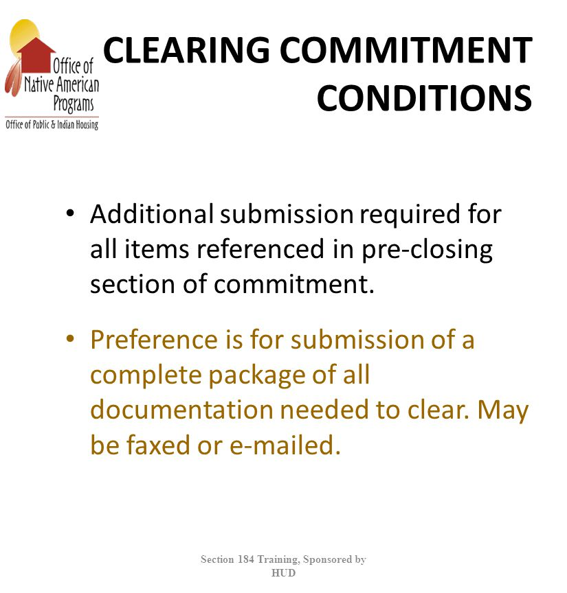 CLEARING COMMITMENT CONDITIONS