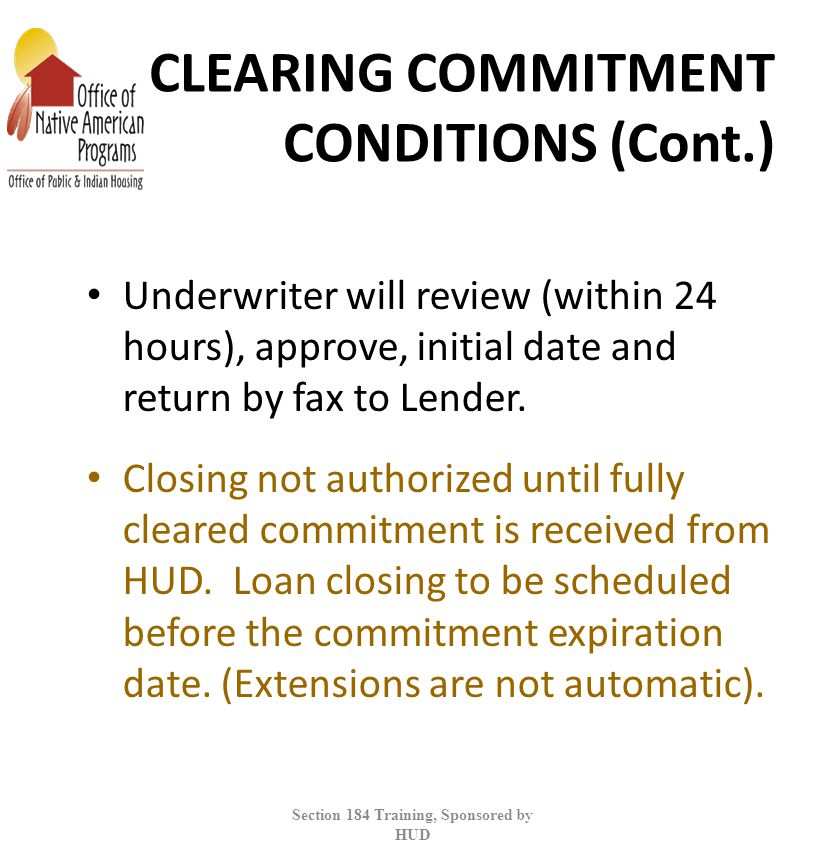 CLEARING COMMITMENT CONDITIONS (Cont.)