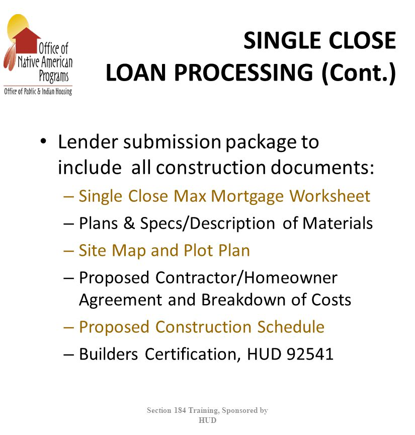 SECTION 184 INDIAN HOUSING LOAN GUARANTEE PROGRAM ppt download – Hud Rent Calculation Worksheet