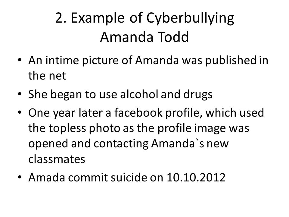 2. Example of Cyberbullying Amanda Todd