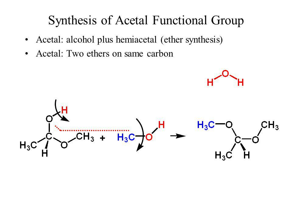 Synthesis of Acetal Functional Group