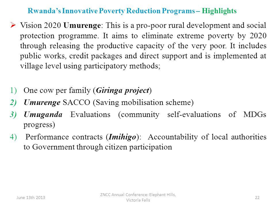 Rwanda's Innovative Poverty Reduction Programs – Highlights