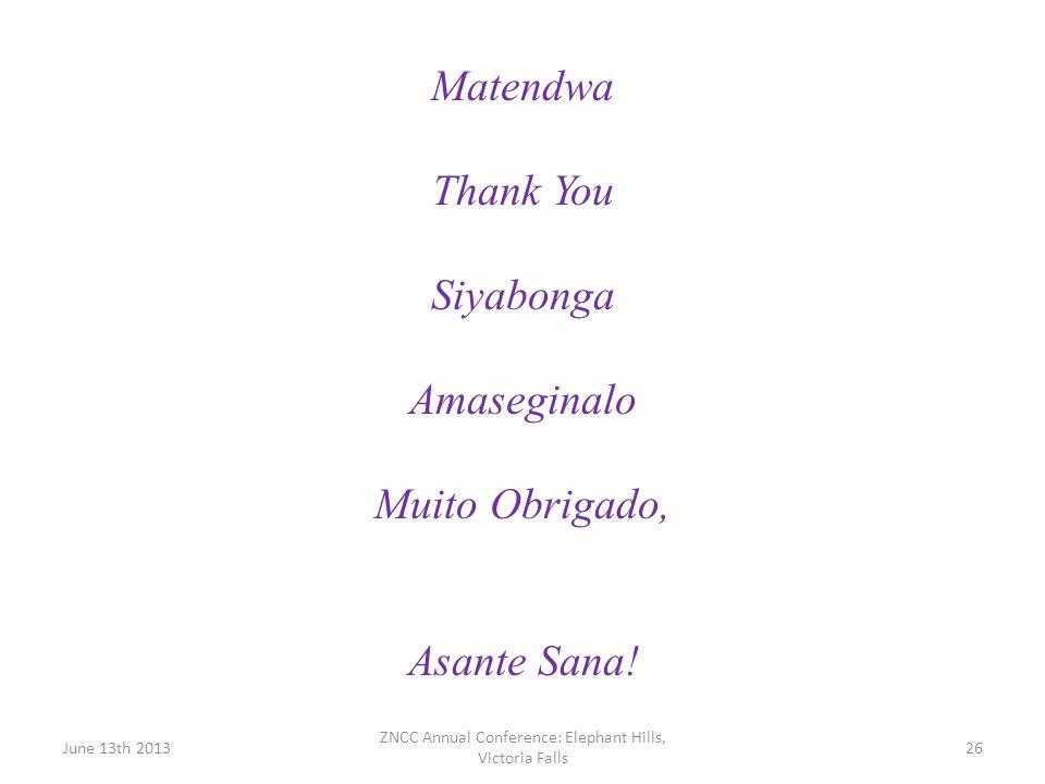 Matendwa Thank You Siyabonga Amaseginalo Muito Obrigado, Asante Sana!