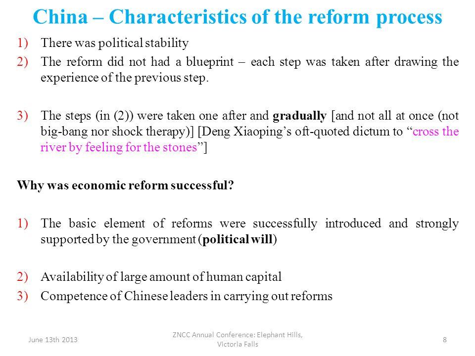 China – Characteristics of the reform process