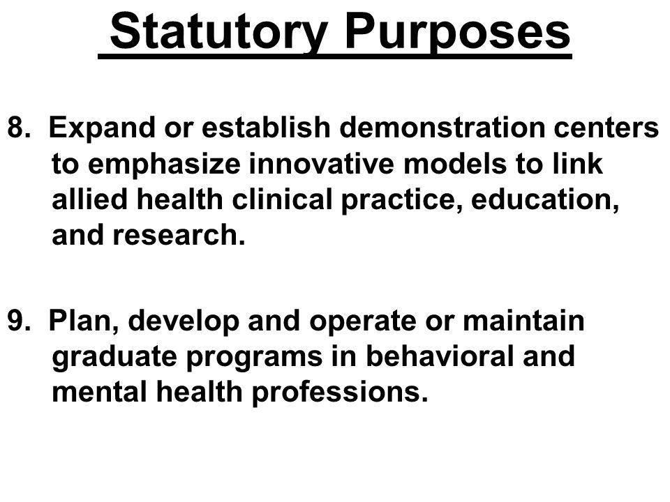 Statutory Purposes