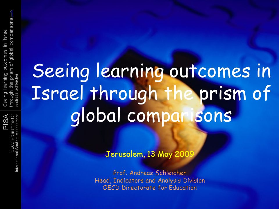 Seeing learning outcomes in Israel through the prism of global comparisons