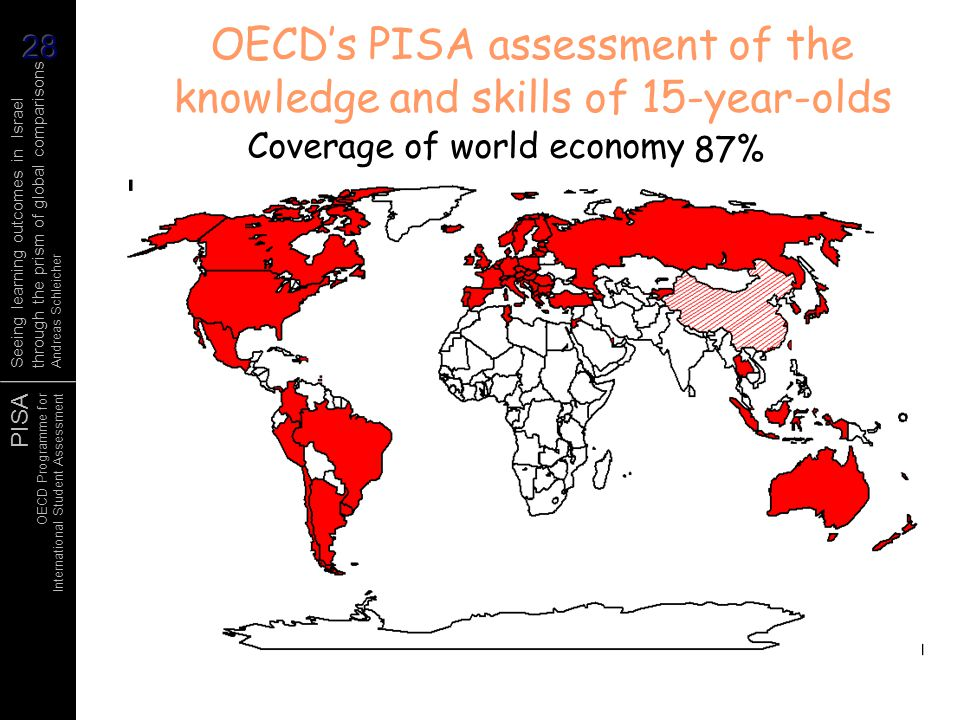 OECD's PISA assessment of the knowledge and skills of 15-year-olds