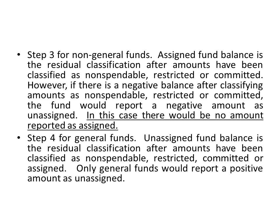 Step 3 for non-general funds
