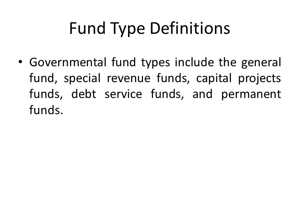 Fund Type Definitions