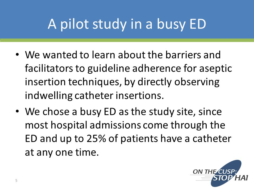 A pilot study in a busy ED