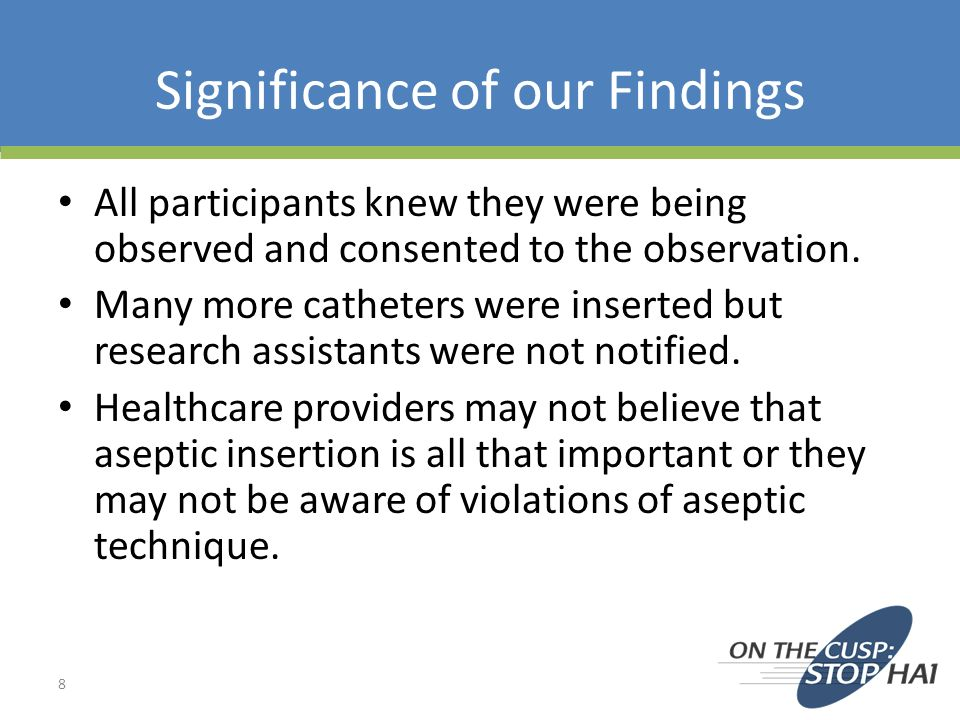 Significance of our Findings