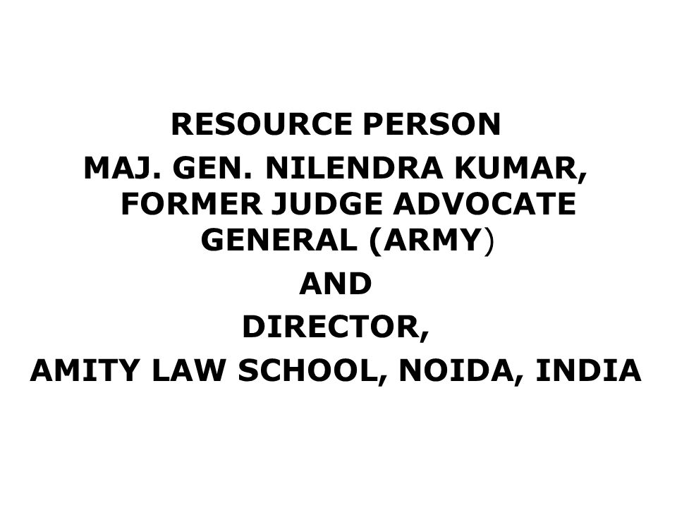 AMITY LAW SCHOOL, NOIDA, INDIA