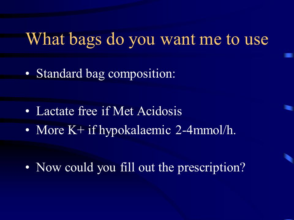 What bags do you want me to use