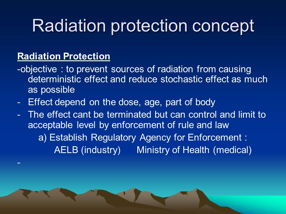 Radiation protection concept