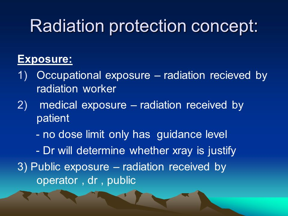 Radiation protection concept: