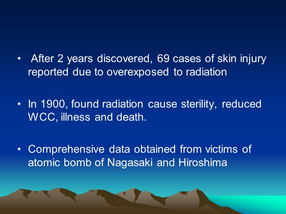 After 2 years discovered, 69 cases of skin injury reported due to overexposed to radiation