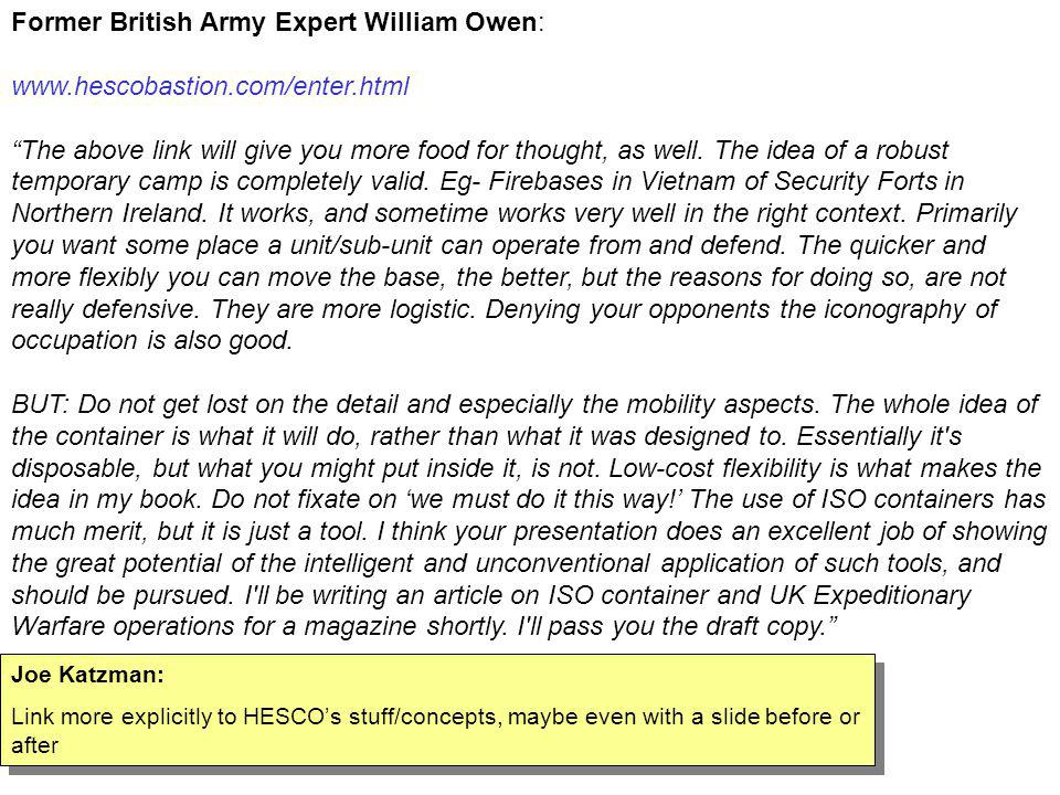 Former British Army Expert William Owen: