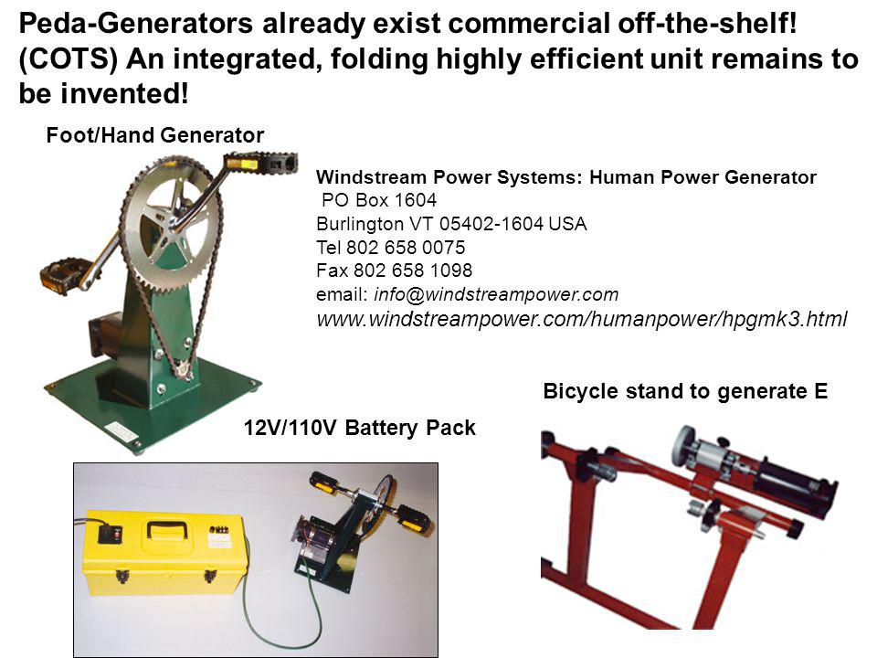 Peda-Generators already exist commercial off-the-shelf!