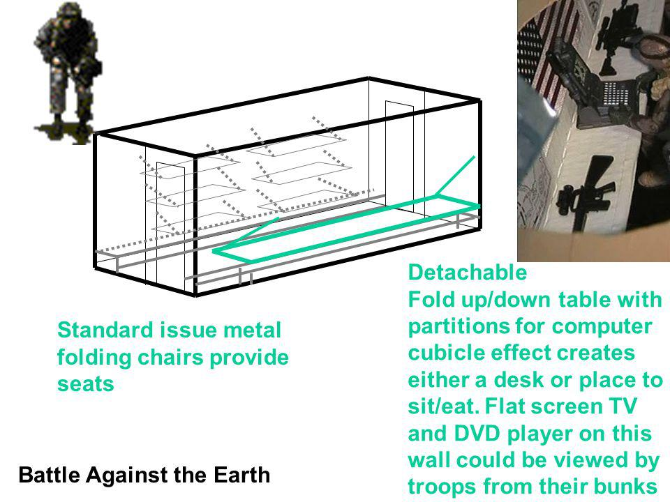Detachable Fold up/down table with. partitions for computer. cubicle effect creates. either a desk or place to.