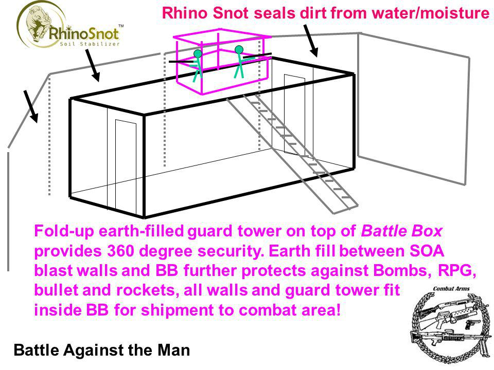 Rhino Snot seals dirt from water/moisture