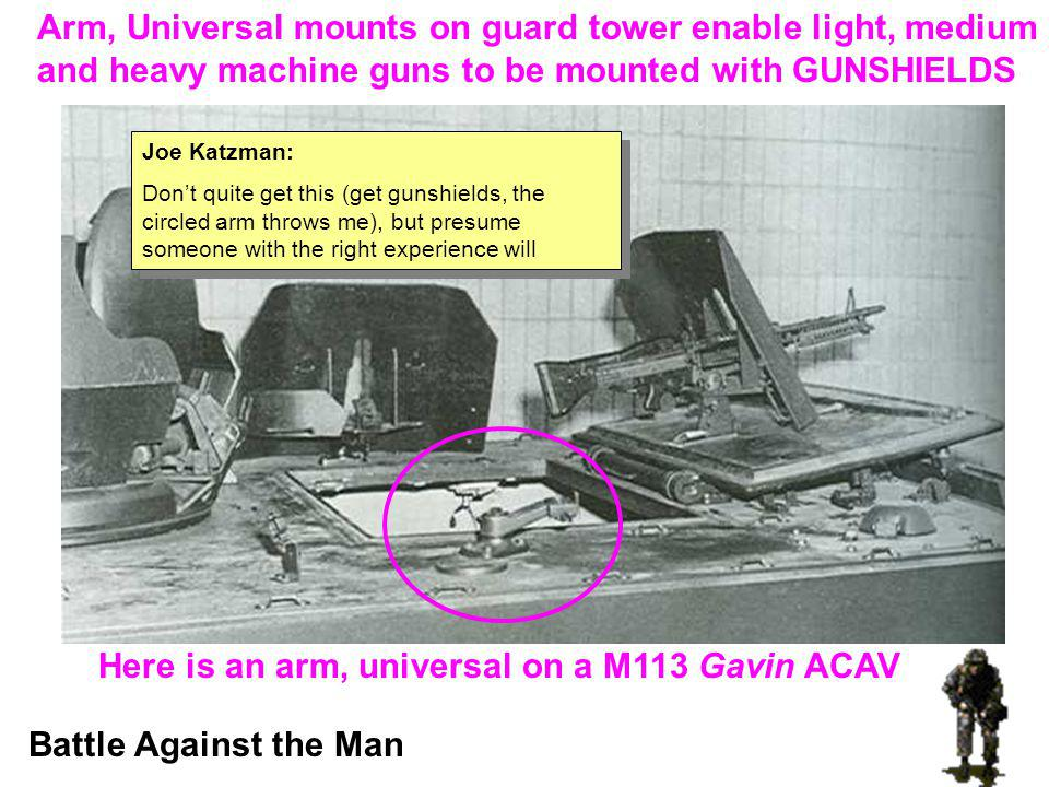 Arm, Universal mounts on guard tower enable light, medium