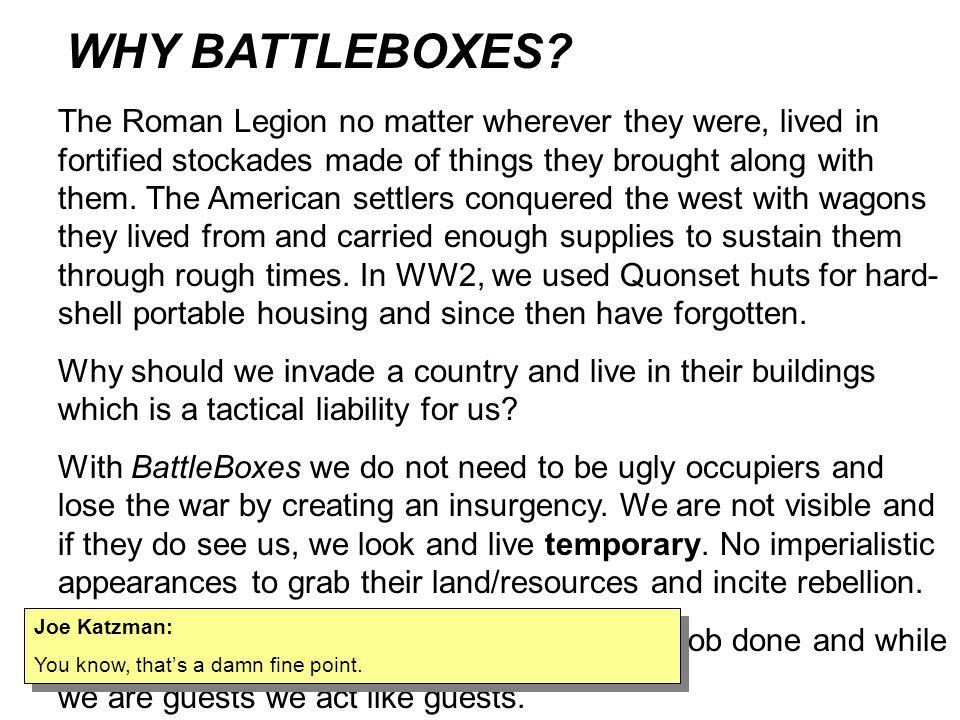 WHY BATTLEBOXES