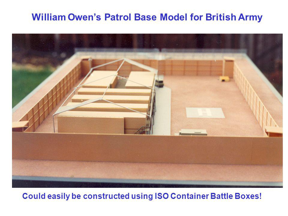 William Owen's Patrol Base Model for British Army