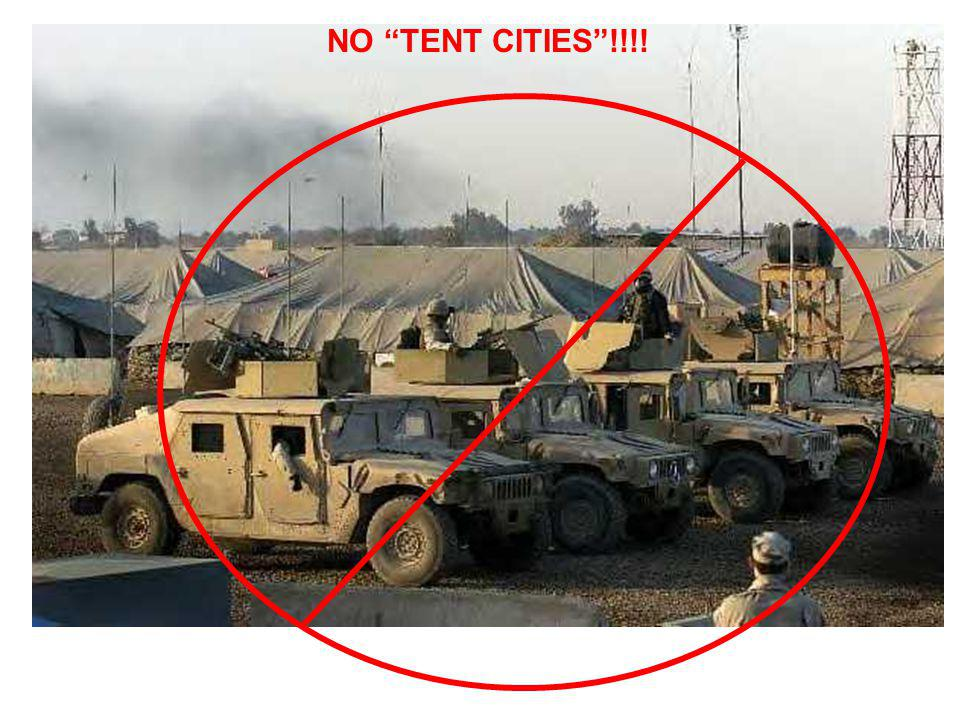 NO TENT CITIES !!!!