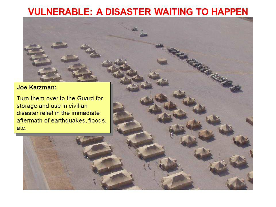 VULNERABLE: A DISASTER WAITING TO HAPPEN