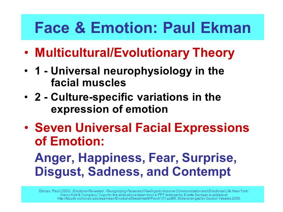Face & Emotion: Paul Ekman