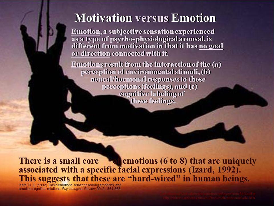 Motivation versus Emotion