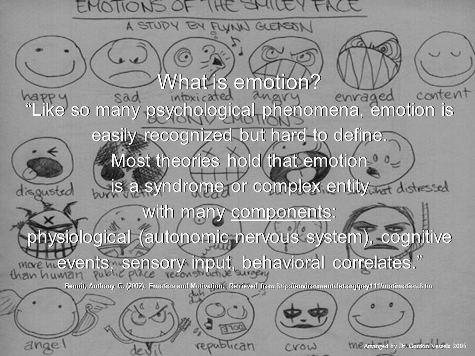What is emotion Like so many psychological phenomena, emotion is easily recognized but hard to define.